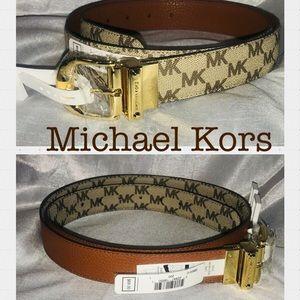 Michael Kors Size Large Brown Reversible Belt
